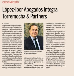 López-Ibor integra a Torremocha & Partners
